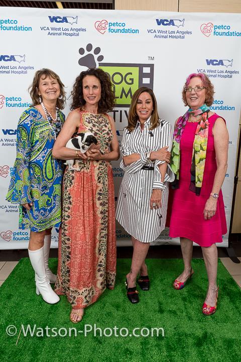 Petco Foundation President Suzanne Kogut, Andie MacDowell, Melissa Rivera and Tracie Hotchner