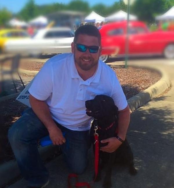 Service dog Daisy with Sergeant Jeremy Milwood