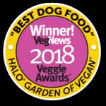Veg News Award Logo Best Dog Food 2018 Veggie Awards